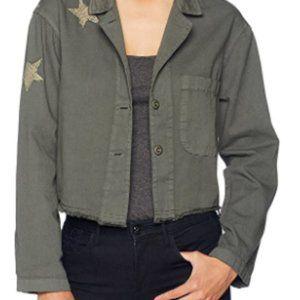 NWT Monrow boxy LS Jacket W/Tonal Stars #295